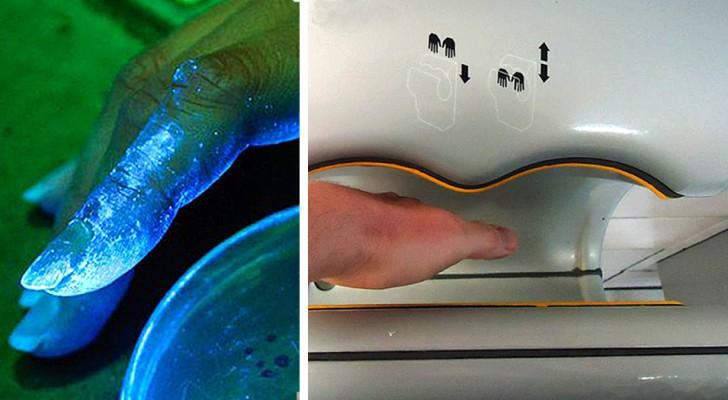 Elektrische handdrogers zijn niet altijd zo hygiënisch in gebruik: dit blijkt uit een onderzoek