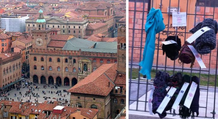 Arrivano a Bologna i Muri della Gentilezza, punti strategici dove lasciare abiti caldi per i senzatetto