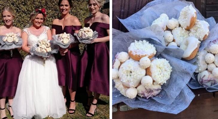 Cette mariée s'est présentée avec un bouquet de donuts à son mariage