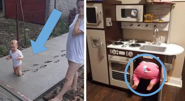 Questi genitori non sanno se ridere o piangere: 17 foto mostrano i loro figli nelle situazioni più assurde