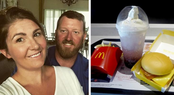 Para el aniversario el marido la lleva a cenar a McDonald's y ella explica porqué se siente una reina