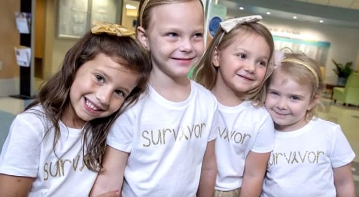 Queste 4 bambine sopravvissute al cancro si sono riunite dopo 3 anni nello stesso ospedale dove si curavano