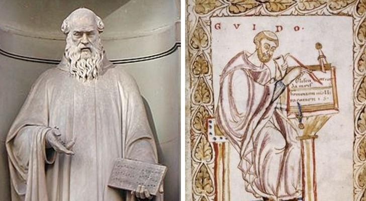Het verhaal van de zeven muzieknoten zoals we ze vandaag kennen: de monnik Guido van Arezzo heeft ze uitgevonden