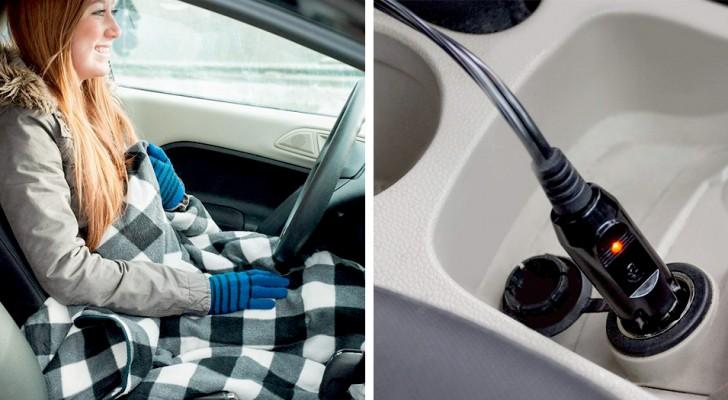 Questa coperta auto-riscaldante in pile renderà i vostri viaggi in automobile comodi e rilassanti