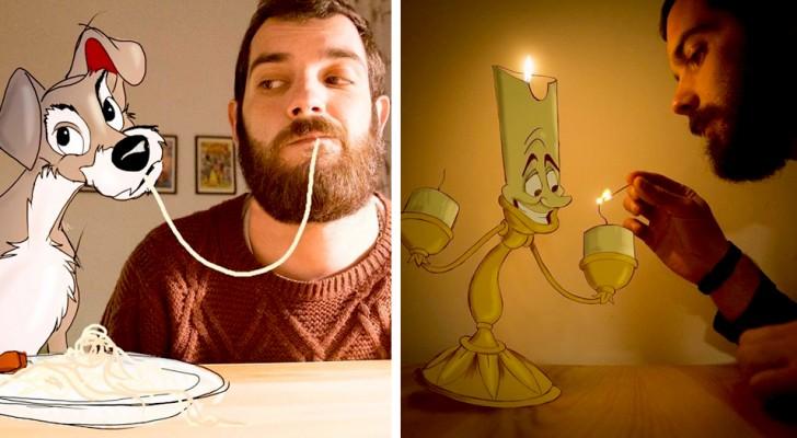Cet homme réalise des portraits hilarants avec les personnages de dessins animés les plus aimés