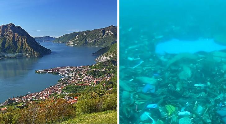 Bergamo, scoperta una montagna di rifiuti sotto il lago d'Iseo: è alta 40 metri