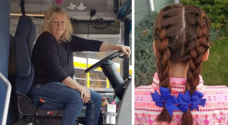 Sie hat ihre Mutter verloren und ihr Vater kann sich nicht kämmen: Also macht die Fahrerin des Schulbusses ihr schöne Frisuren
