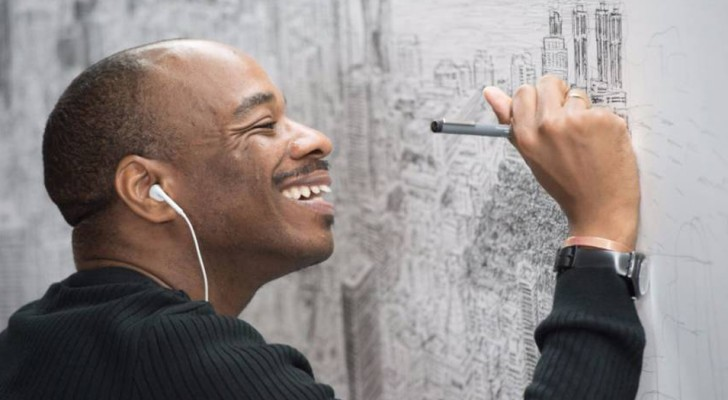 Deze autistische jongen is in staat om hele steden uit zijn hoofd na te tekenen, na er een enkele blik op te hebben geworpen