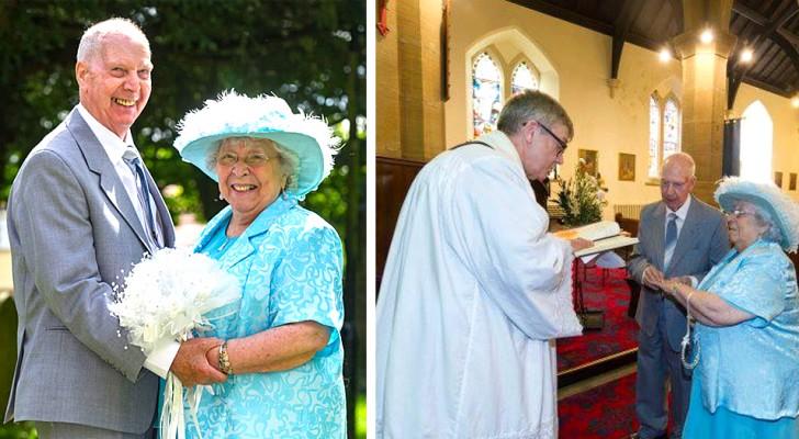 Dopo oltre 40 anni di vita insieme, questa coppia di ottantenni ha deciso di sposarsi