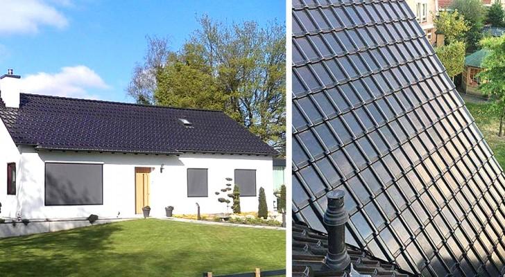 Queste speciali tegole solari catturano l'energia e si integrano alla perfezione con gli edifici