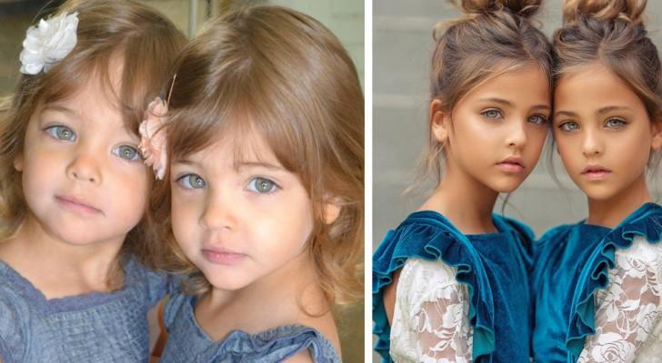 Deze 7-jarige meisjes worden beschouwd als de mooiste tweeling ter wereld en hebben al een toekomst in de mode