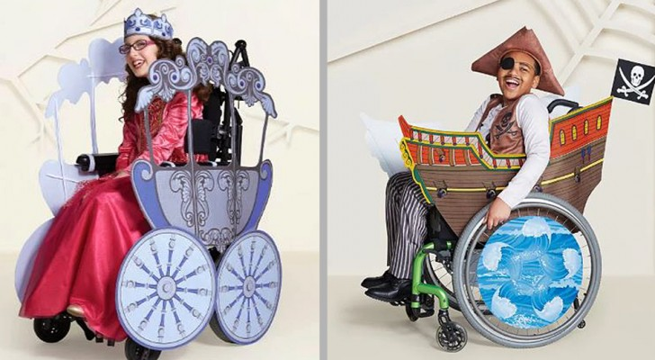 Questa azienda realizza costumi di Halloween per i bambini sulla sedia a rotelle, contro ogni differenza