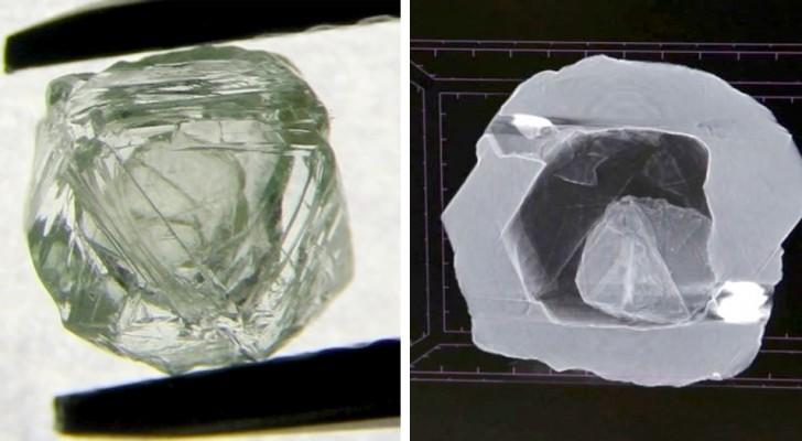 Scoperto in Siberia un rarissimo diamante ad effetto matriosca: ne contiene uno più piccolo al suo interno