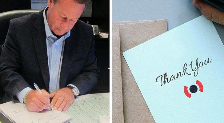 Depuis plus de 30 ans, ce PDG écrit à la main des cartes de vœux pour les employés de son entreprise