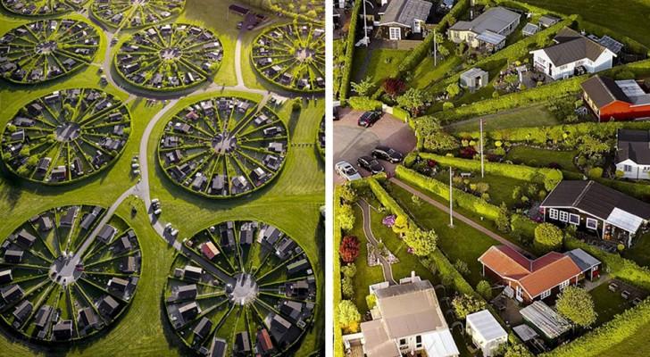 Queste curiose case-giardino in Danimarca sono progettate per favorire il relax e l'interazione sociale