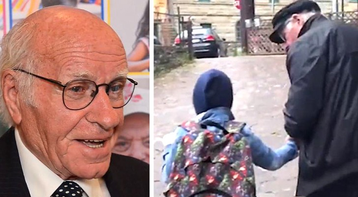 This 84-year-old man traveled  37 miles (60 km) every day to drive a blind child to school