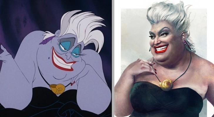 En konstnär ger oss sin tolkning av hur vissa av karaktärerna i Disneyfilmer skulle se ut om de fanns på riktigt