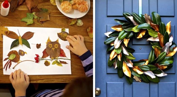 21 affascinanti creazioni con foglie e fiori secchi adatte ad ogni età