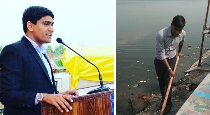 Questo ragazzo ha ripulito decine di laghi e stagni nel suo Paese per affrontare il problema dell'inquinamento