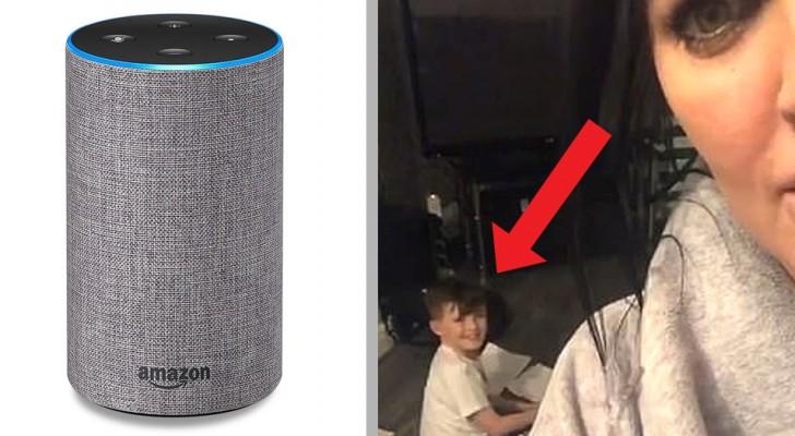 Este menino foi surpreendido pela mãe enquanto pedia ajuda para a assistente vocal Alexa para fazer as tarefas