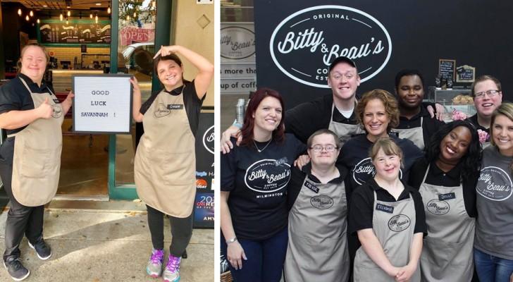 De cafetaria gerund door jongeren met het syndroom van Down heeft een nieuwe locatie geopend en is van plan uit te breiden