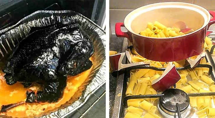 18 foto esilaranti che mostrano tutte le volte in cui sarebbe stato meglio non cucinare