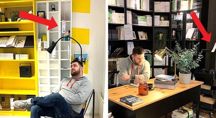 Il publiait des photos dans des maisons à la mode pour impressionner les filles ; il était en réalité à Ikea