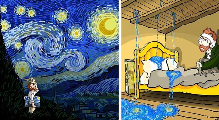 Un disegnatore illustra la vita di Van Gogh come fosse un fumetto, ironico e drammatico allo stesso tempo