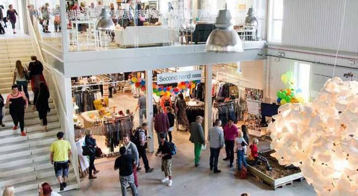 In questo centro commerciale in Svezia si vendono solo oggetti riciclati: qui lo shopping si fa green