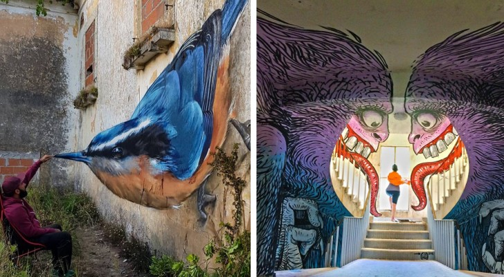 19 exemples de street art qui transforment les coins les plus sombres de la ville en de magnifiques œuvres d'art en 3D