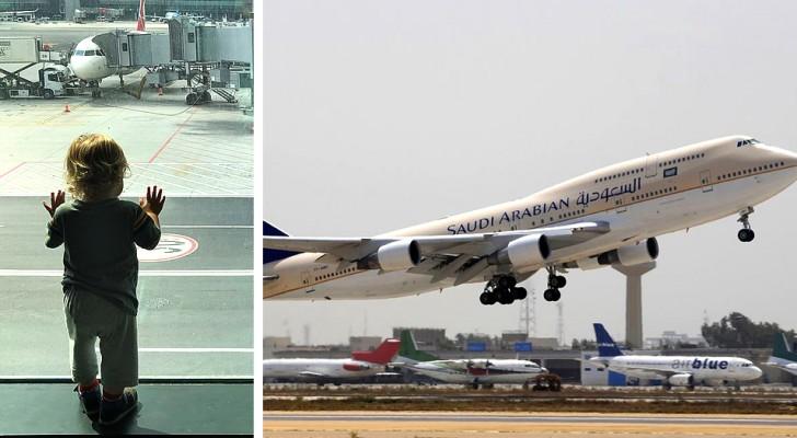 Eine Mutter vergisst ihren Sohn am Flughafen und bemerkt das erst in der Luft: Der Pilot ist gezwungen, umzukehren
