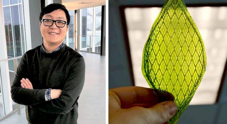 Een onderzoeker heeft een kunstmatig blad gemaakt dat koolstofdioxide omzet in ecologische brandstof
