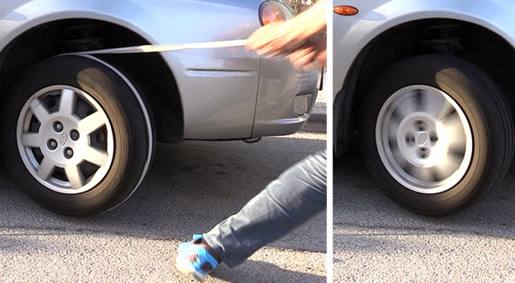 Questo ragazzo mostra un pratico trucco per avviare un'auto con la batteria scarica tramite una corda