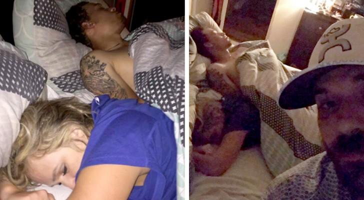Encontra a sua namorada na cama com outro homem: por vingança faz algumas fotos e publica nas redes sociais