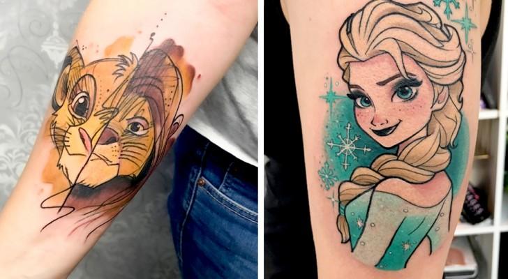 21 Tattoos, inspiriert von Disney-Cartoons, die das Kind in uns wecken können.