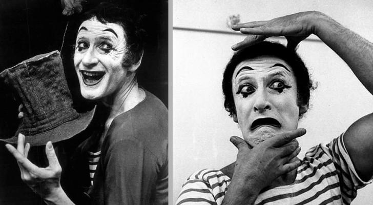 Marcel Marceau, der Pantomime, der es geschafft hat, Hunderte von jüdischen Kindern durch Schweigen zu retten
