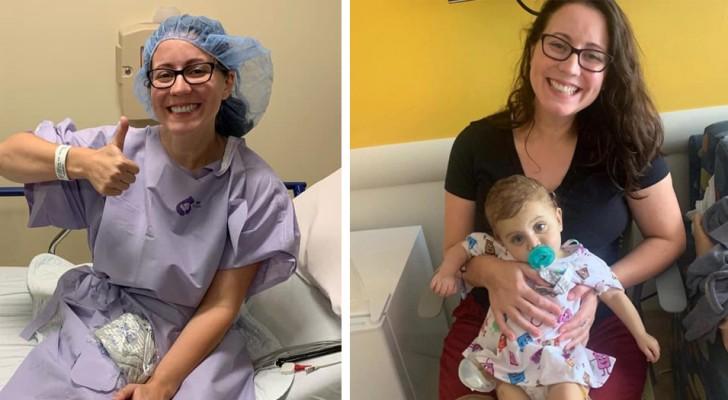 Een dappere moeder gaf een deel van haar lever aan een kind dat ze nog nooit eerder had ontmoet