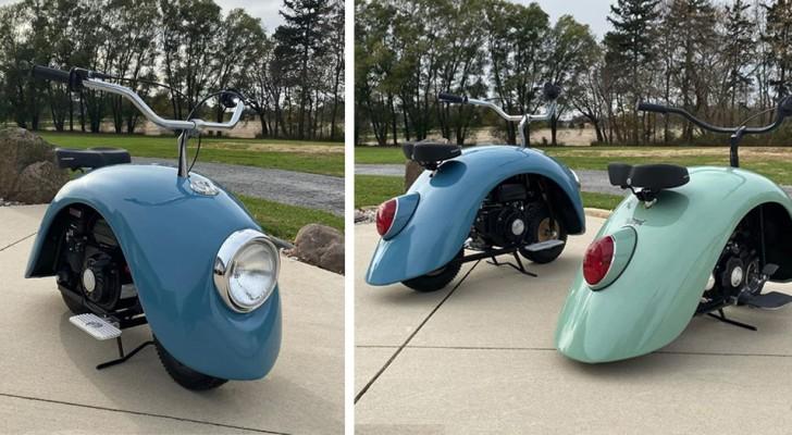 Un uomo ha smontato un vecchio Maggiolino Volkswagen e ha creato queste particolari mini moto