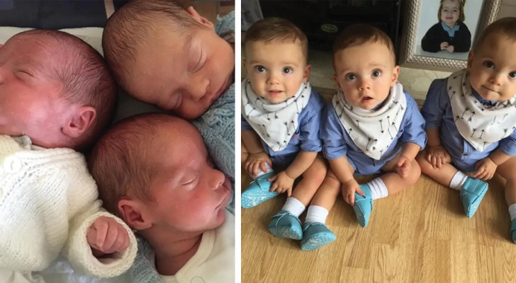 These triplets were born two and a half months early and against all expectations, they survived and are strong and healthy