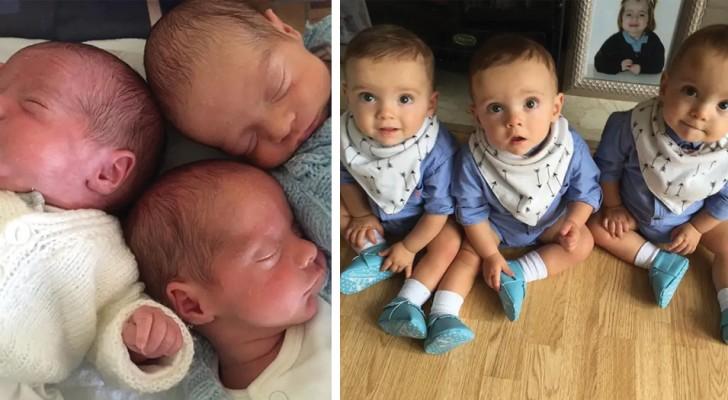 Les triplés naissent 2 mois et demi plus tôt : contre toute attente, ils survivent et grandissent en bonne santé