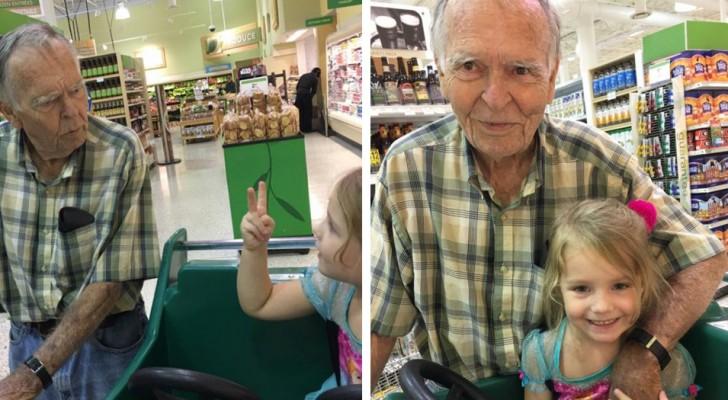Angefangen hat alles mit einem Treffen im Supermarkt: Heute sind dieser alte Mann und das Mädchen beste Freundinnen