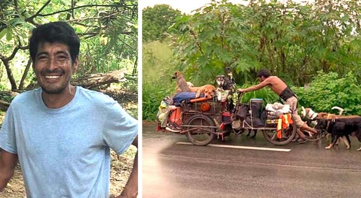 Quest'uomo ha salvato oltre 500 cani girando il Messico per 6 anni con un carretto
