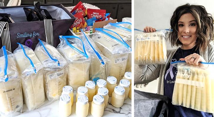 Después de haber perdido a su hijo esta madre ha decidido de donar su leche materna a los niños en dificultad