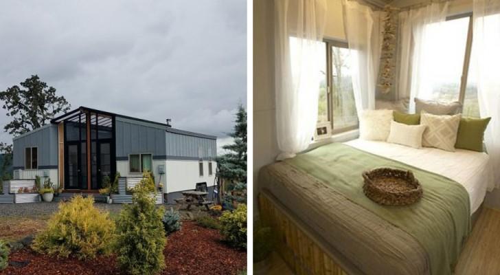 Klein aber nicht zu klein: Dieses Mobilheim ist perfekt für diejenigen, die eine Familie gründen wollen