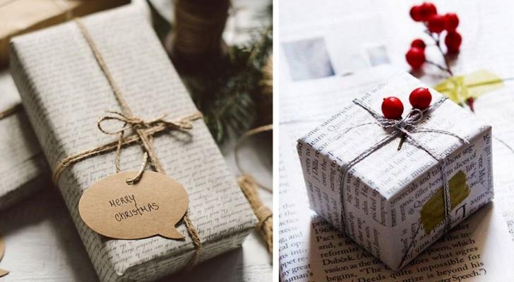 Emballez vos cadeaux de Noël avec du papier journal : une idée originale qui aide l'environnement