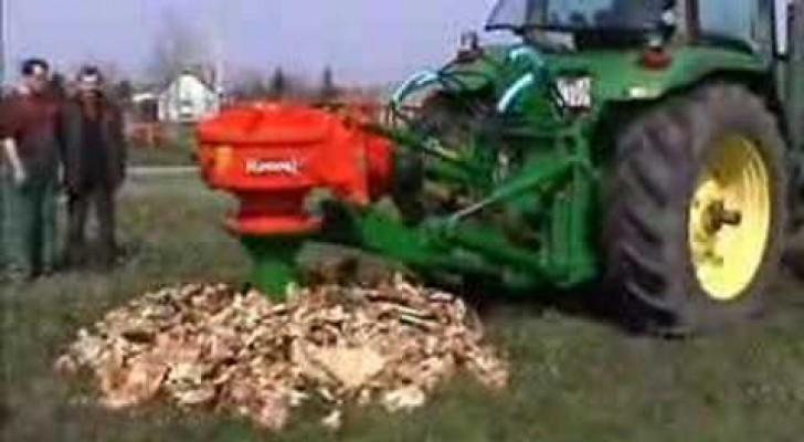 Voilà comment un tronc d'arbre est enlevé et réduit en poudre