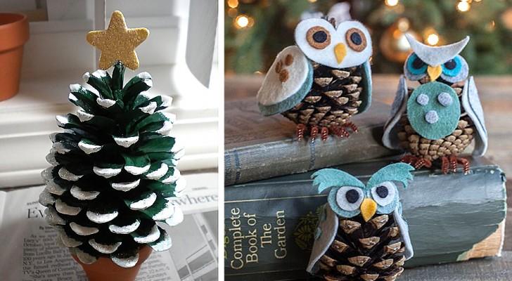 Lavoretti natalizi con le pigne: 10 idee originali e semplici per decorare in modo naturale