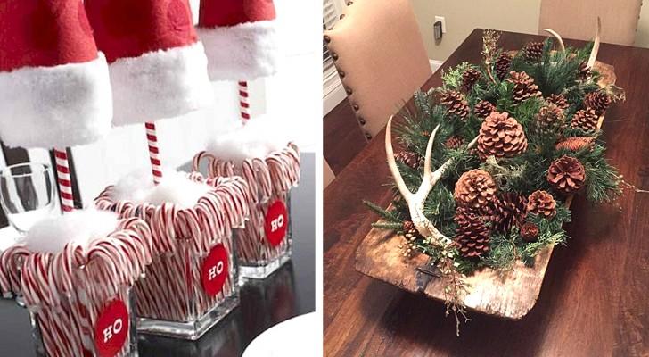 18 idee belle e veloci per realizzare centrotavola natalizi di grande effetto