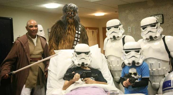 Disney erlaubt einem Mann mit einer unheilbaren Krankheit, den neuen Star Wars zu sehen, bevor er in die Kinos kommt