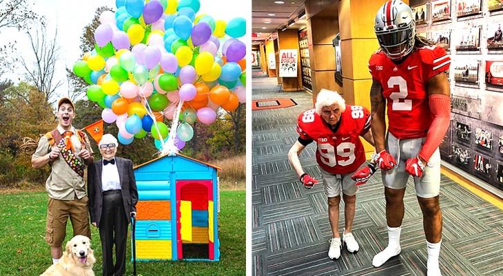 Die 93-jährige Großmutter verkleidet sich gerne und spielt mit ihrem Enkel Streiche: Die beiden sind ein echtes Komikerpaar